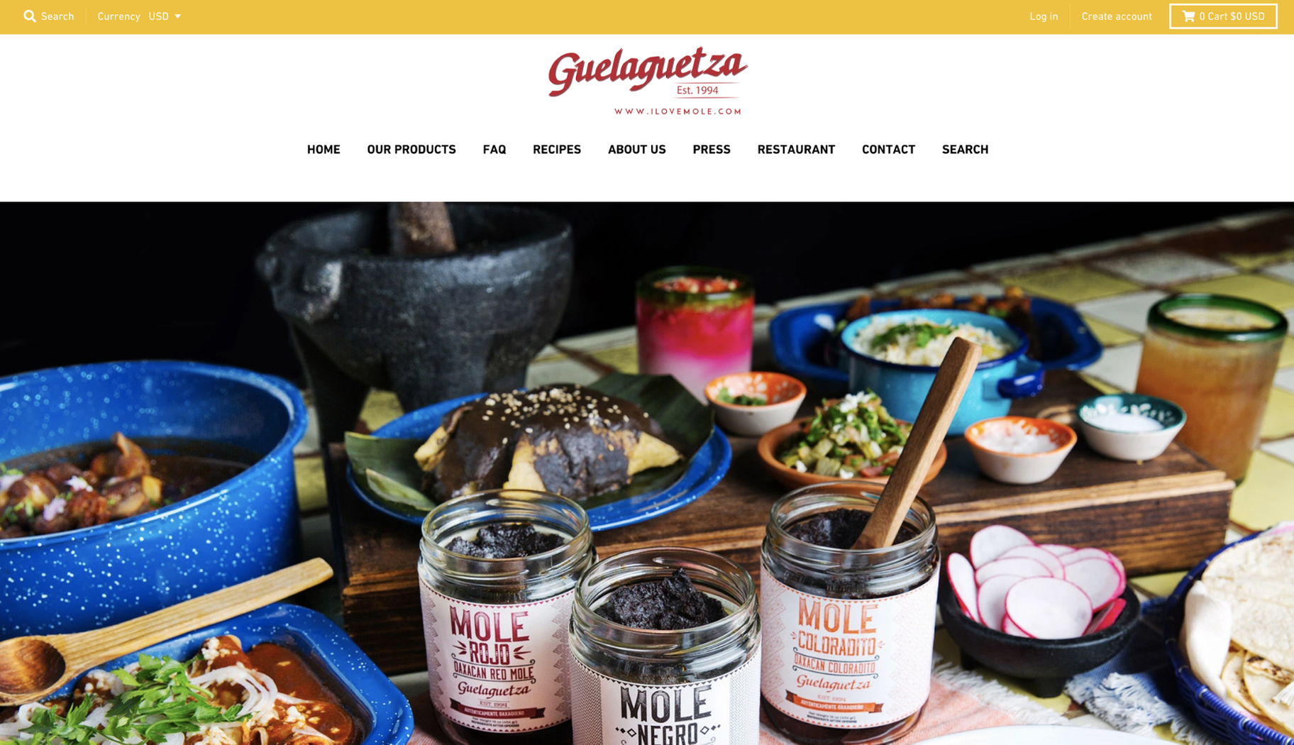 Small Business Website Example: Guelaguetza