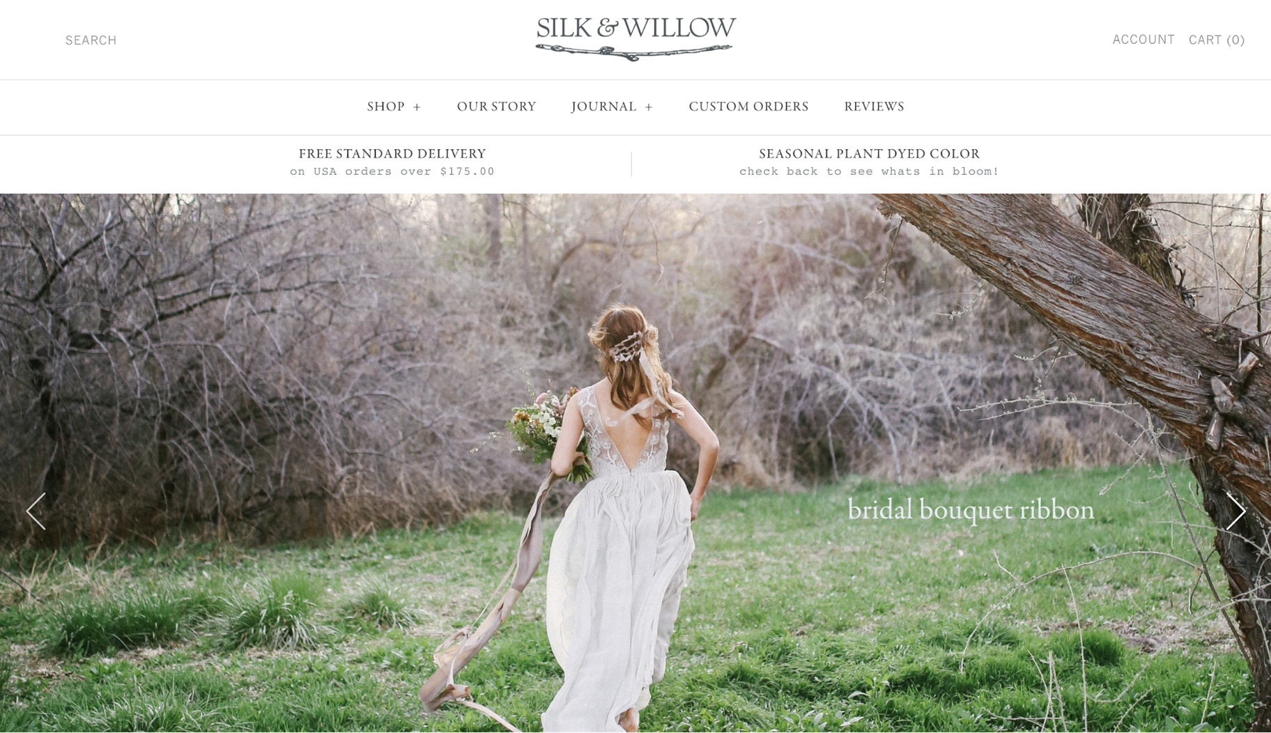 Small Business Website Example: Silk & Willow