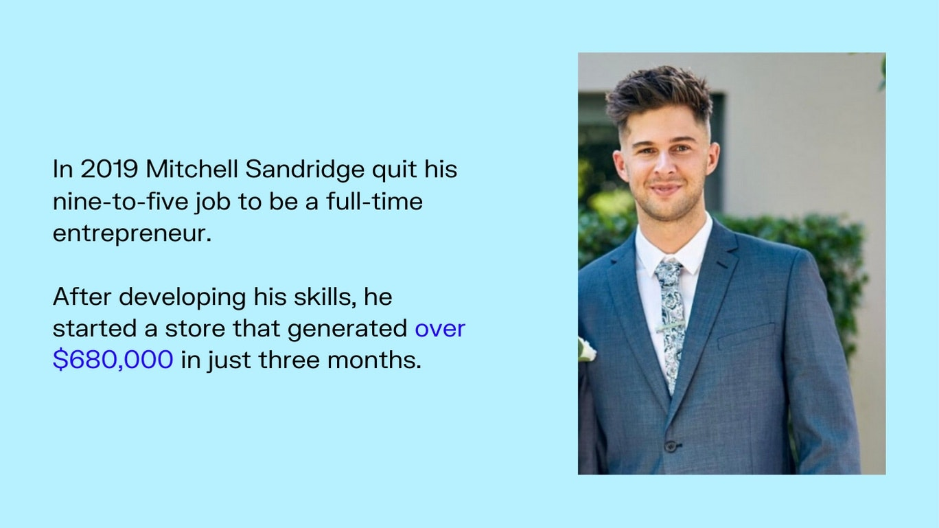 Mitchell Sandridge entrepreneur