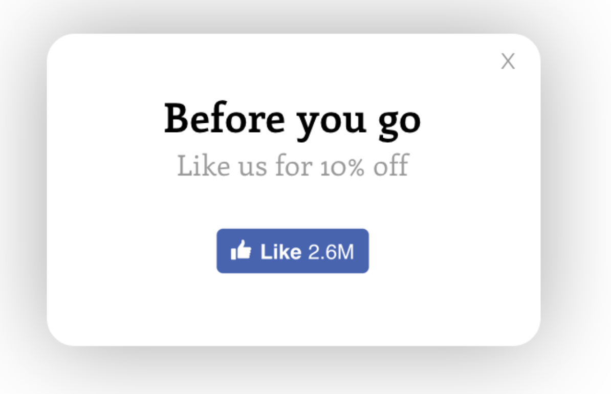 facebook likes popup app