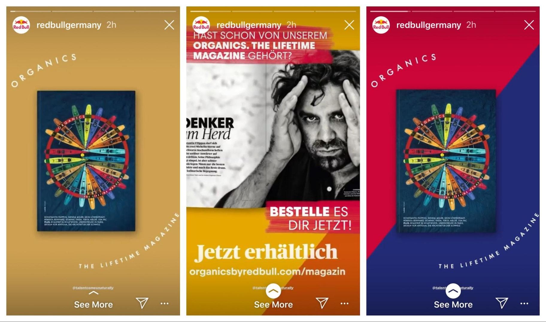 Redbull Instagram Story Design Example