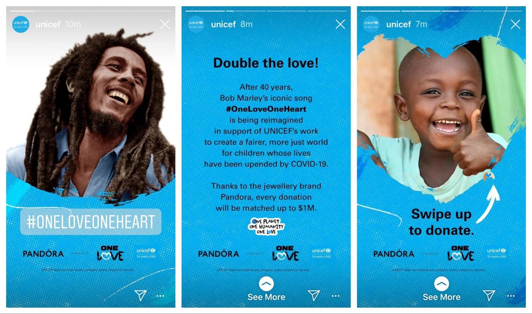 Unicef Instagram Story Design Example