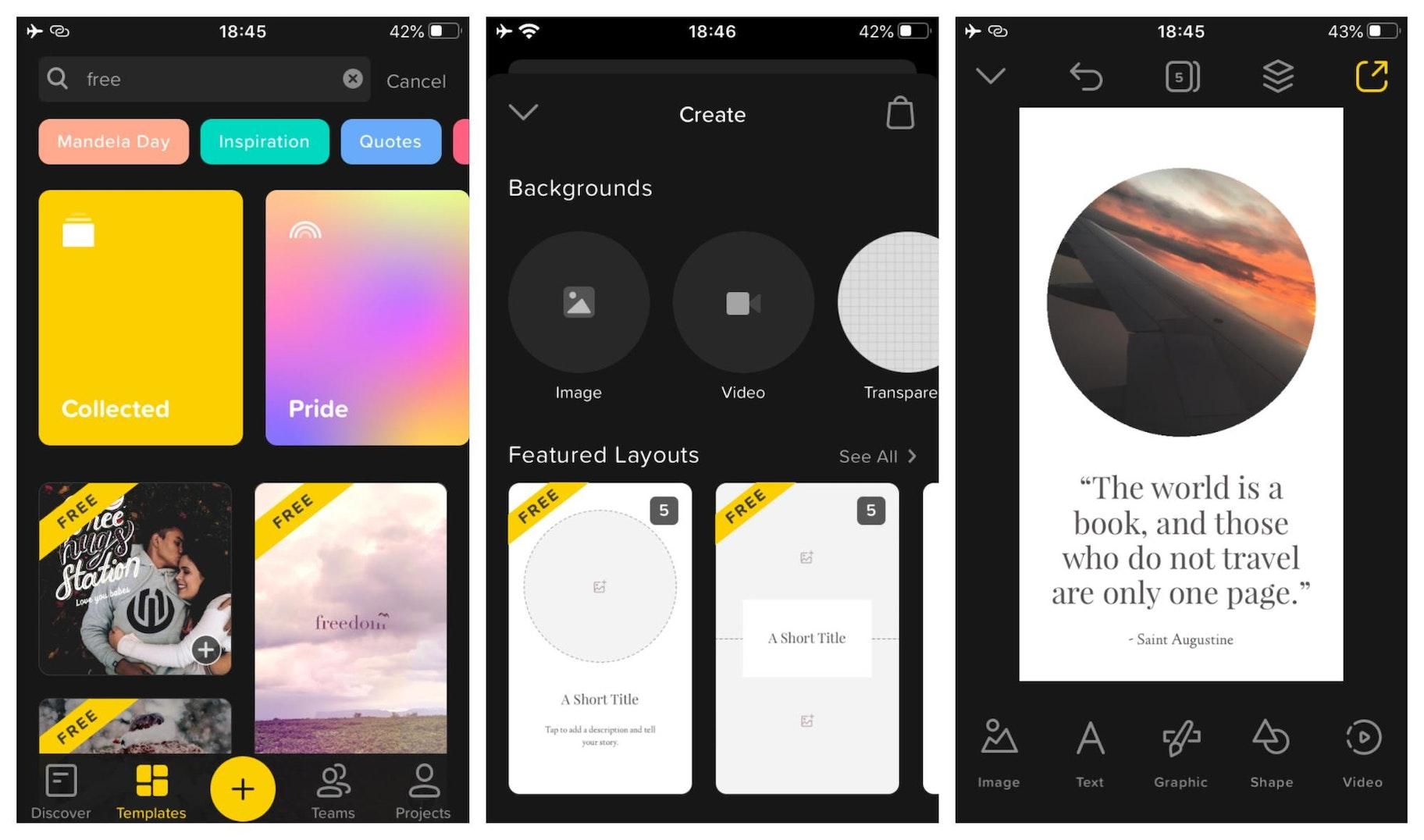 Over Instagram Story Design App