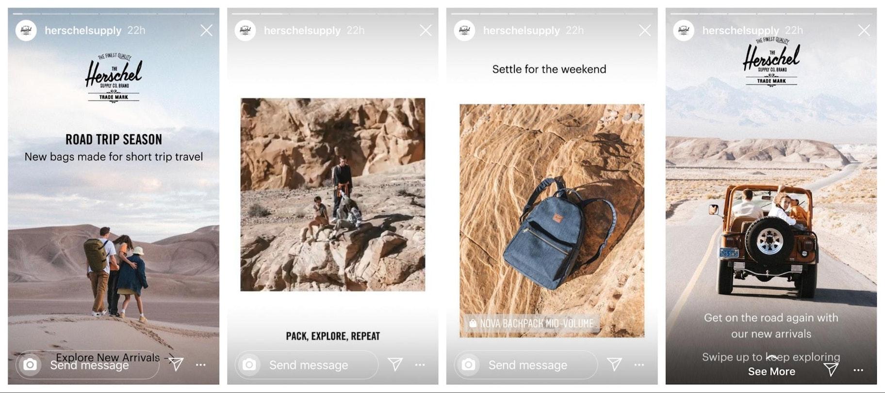 Herschel Instagram Story Design Example