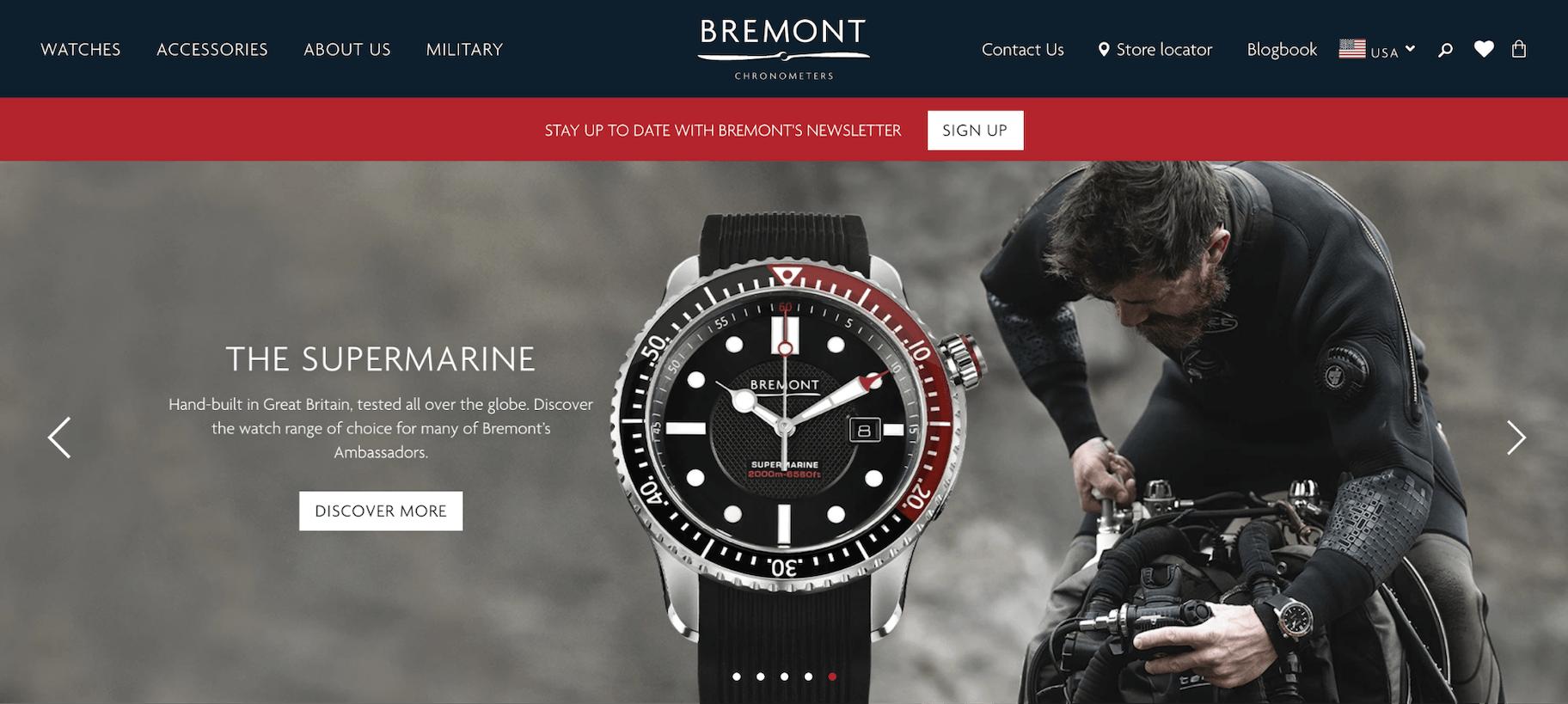 Bremont Website
