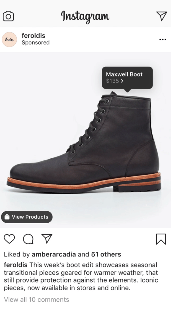 Instagram shopping ads