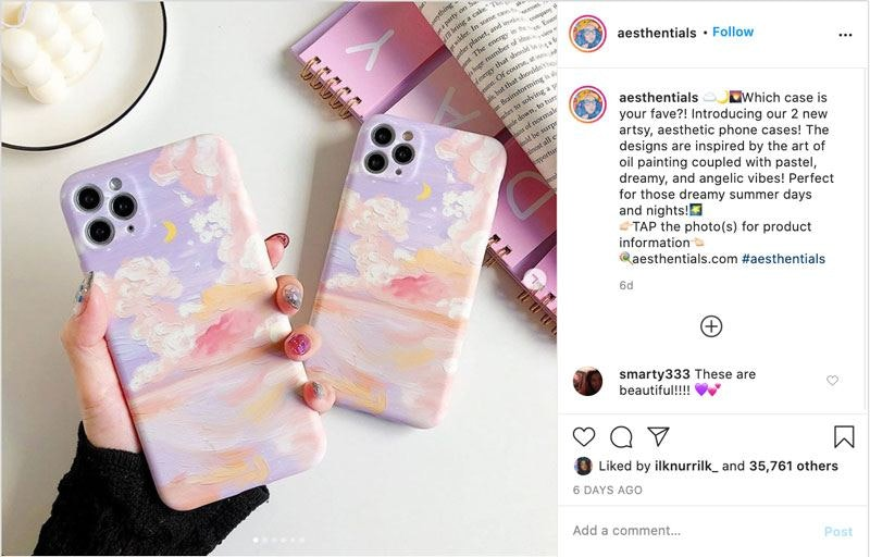 How Aesthentials makes money on Instagram