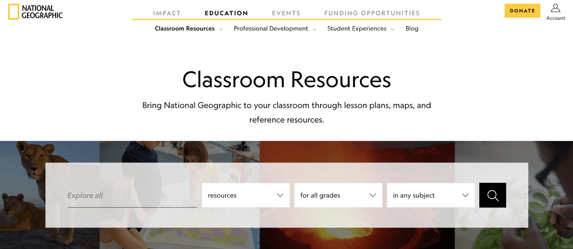 National Geographic Teaching Resources