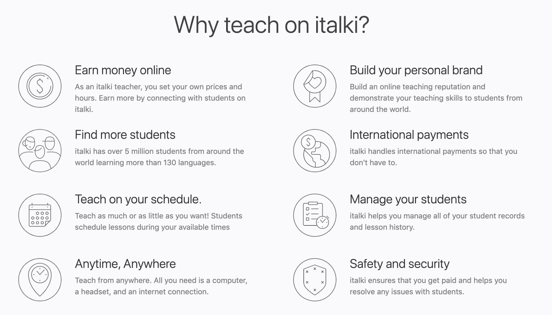 iTalki Online Teaching Platform