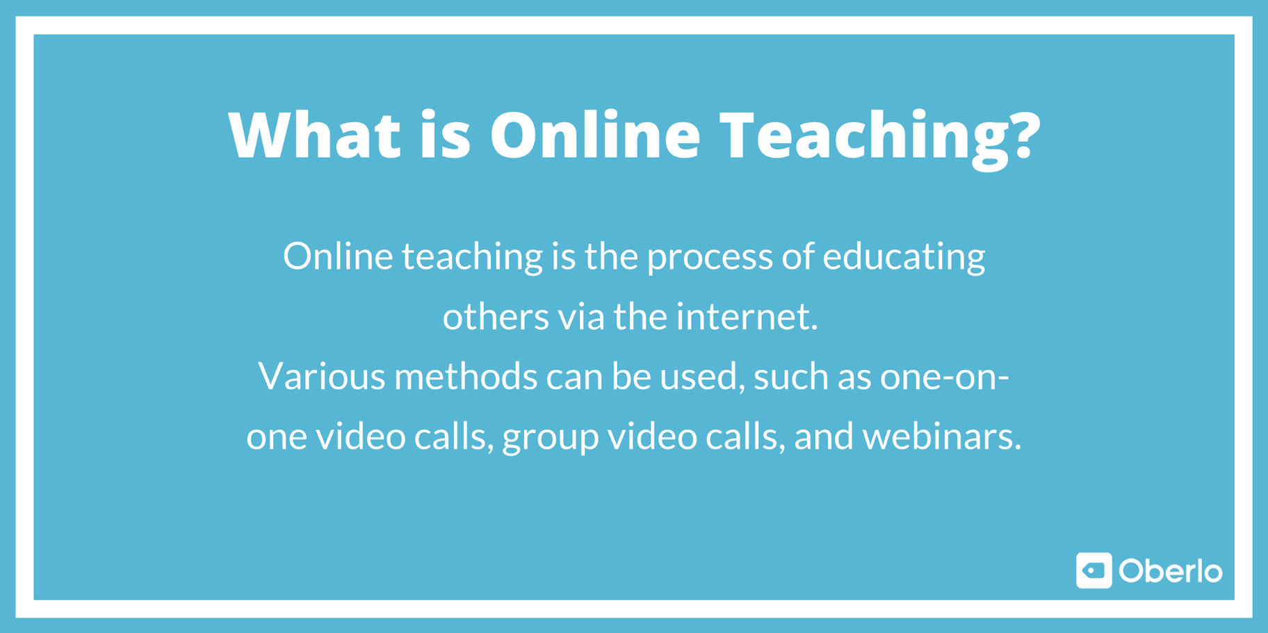 What is Online Teaching?