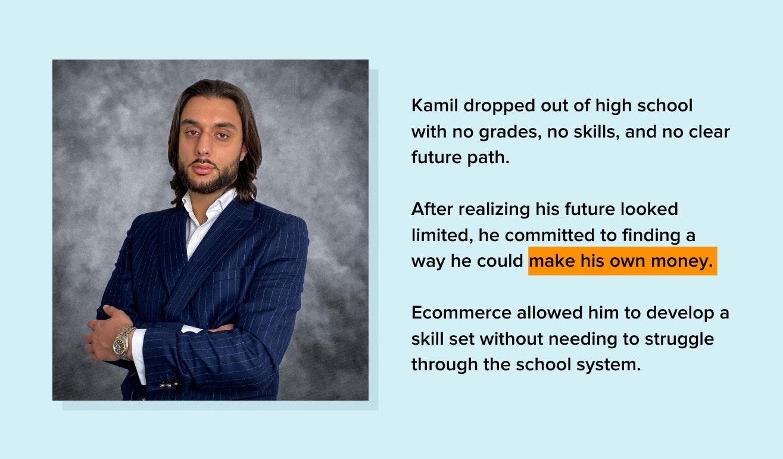 Kamil Sattar ecommerce entrepreneur