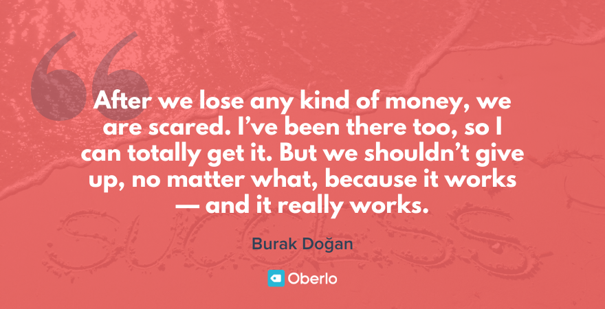 dropshipping quote from burak Doğan