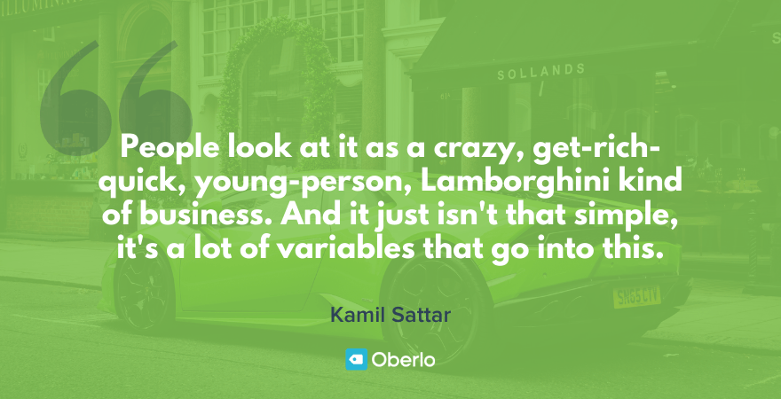 dropshipping quote by kamil sattar