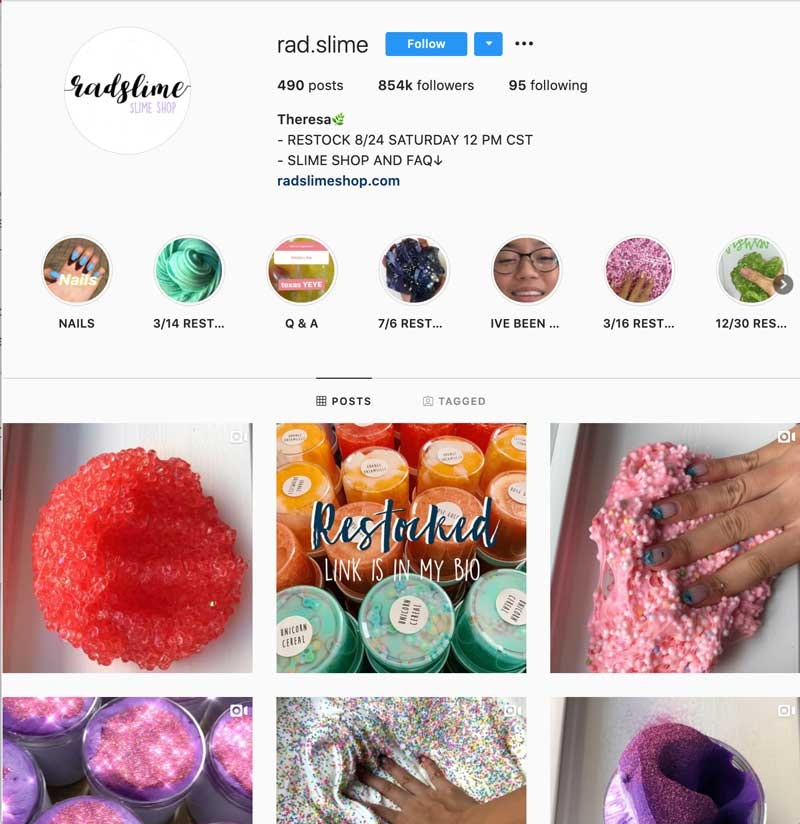 Instagram Success Stories - RadSlimeShop