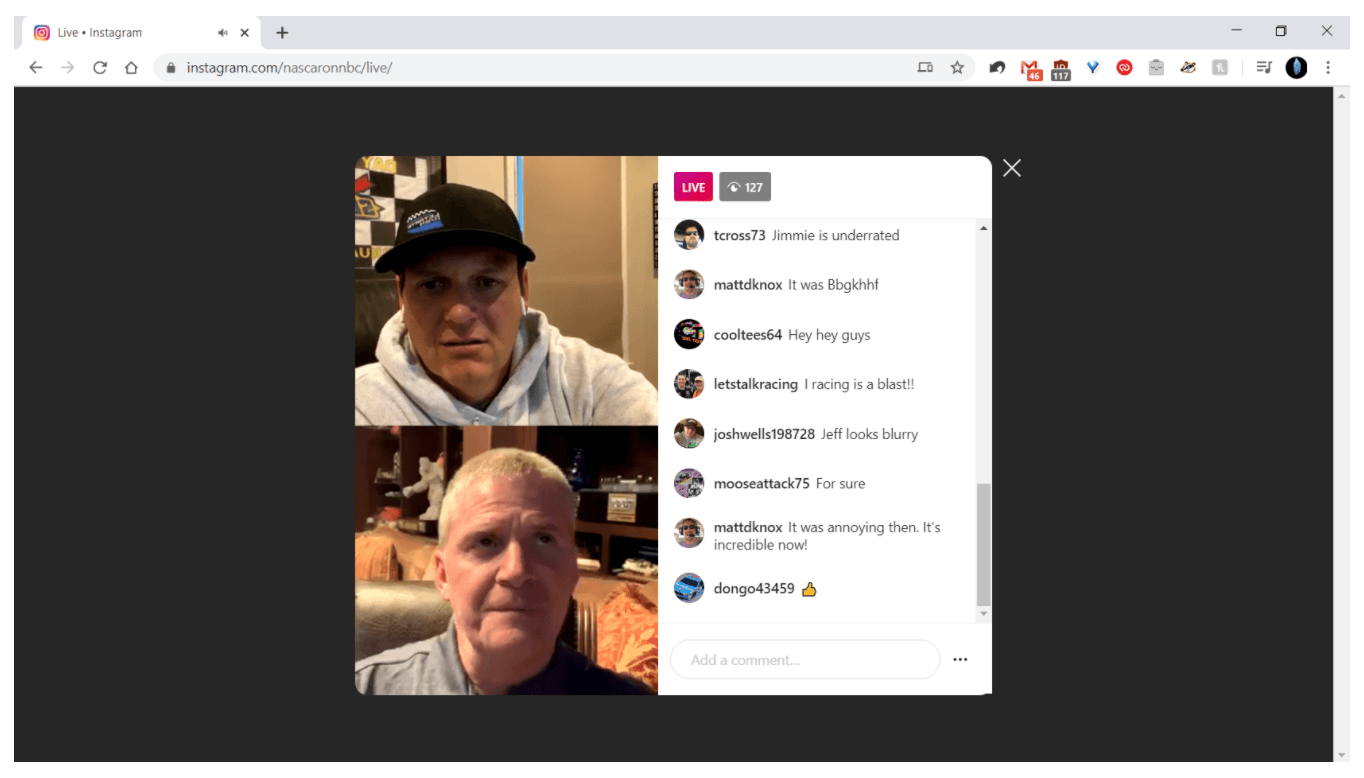 Accessing Instagram Live from Desktop