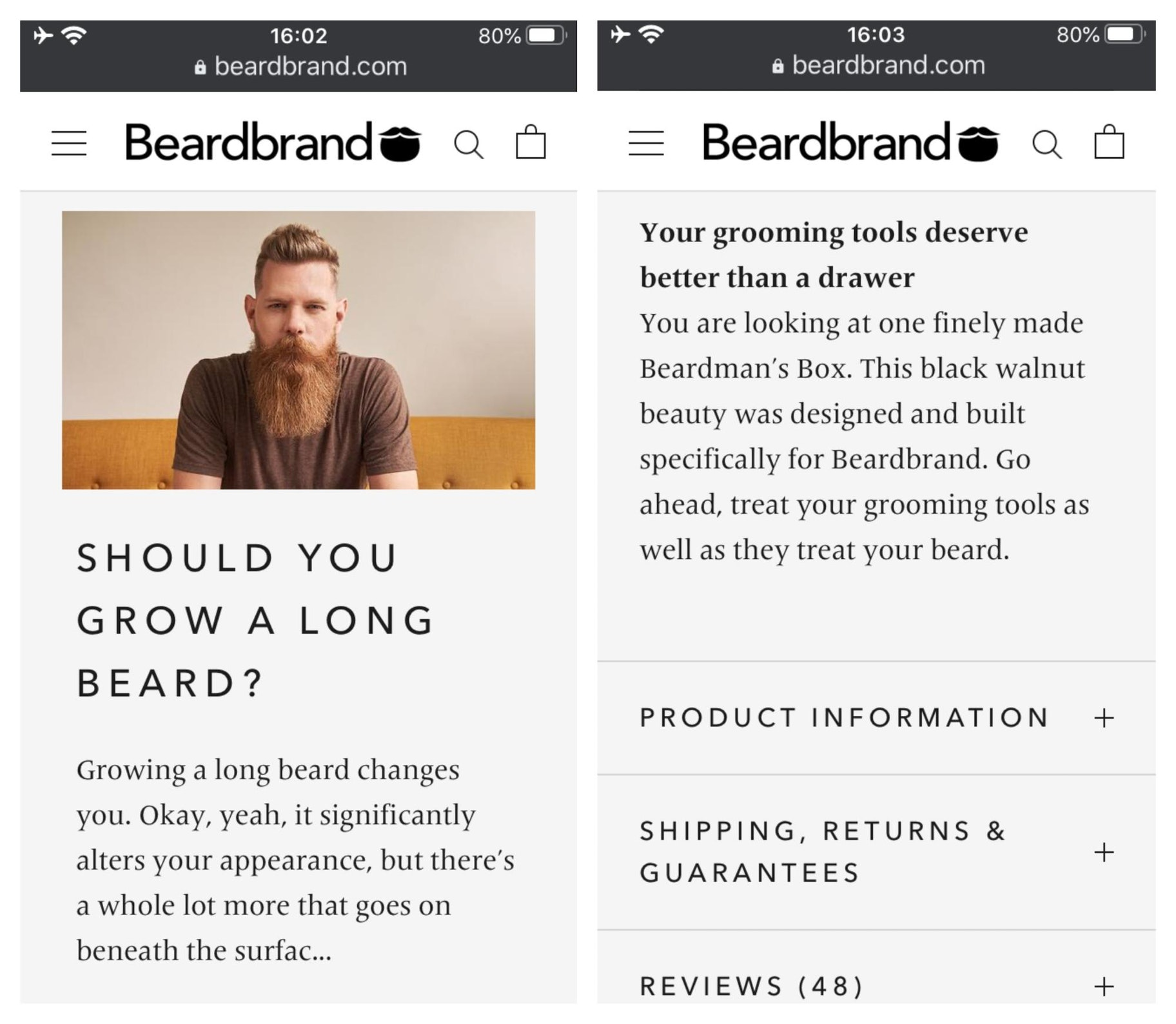 Beardbrand Large Text