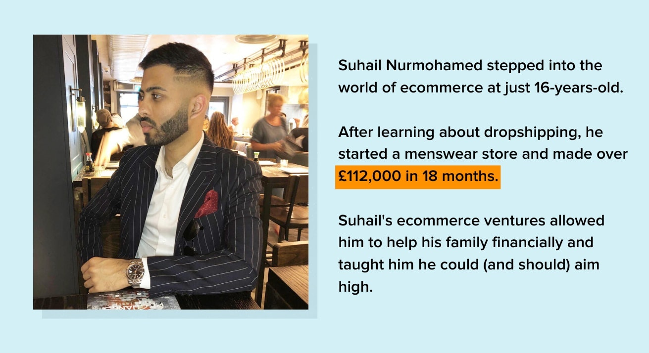 Suhail Nurmohamed ecommerce entrepreneur
