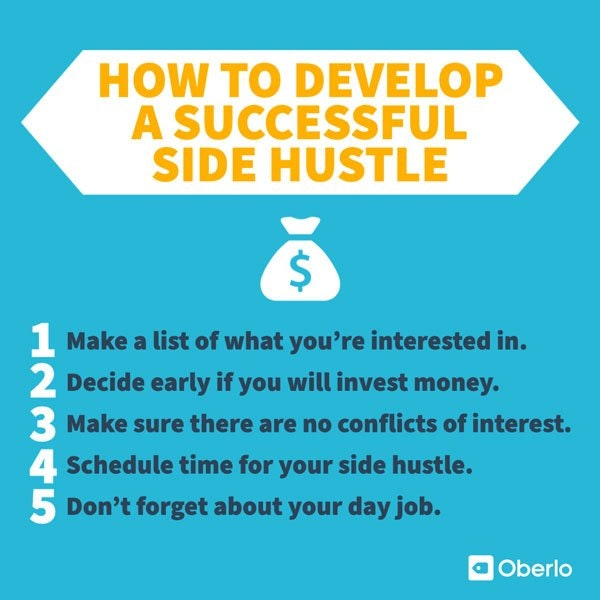 five tips to help you develop a successful side hustle