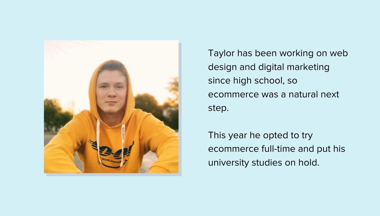 ecommerce entrepreneur Taylor Reilley