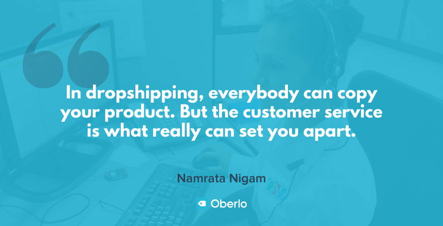Customer service quote by Namrata and Shishir