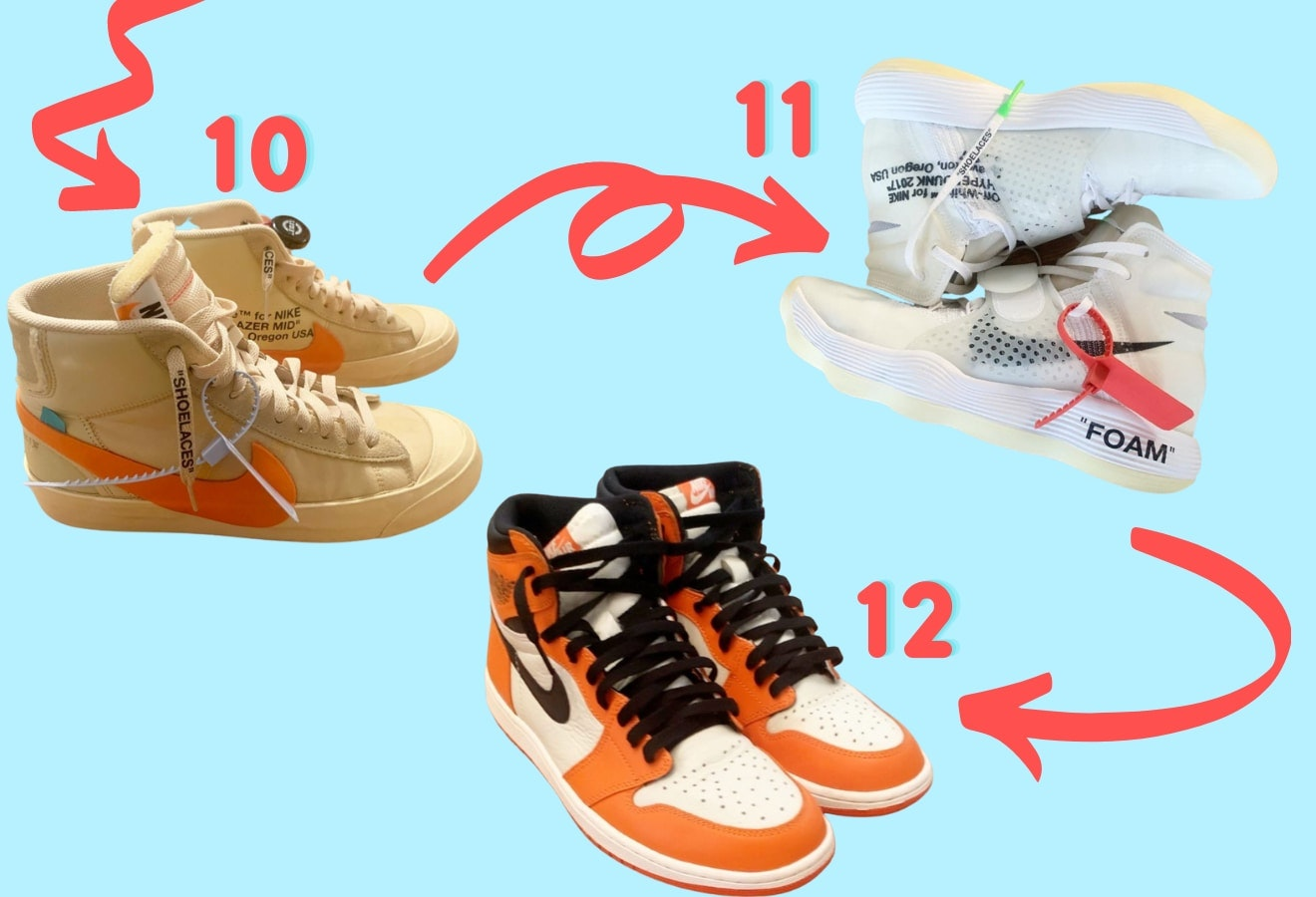 Demi's 10-12 trades were three different pairs of rare Nike sneakers