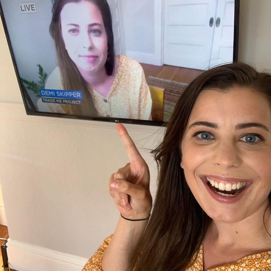 Demi Skipper appears on TV
