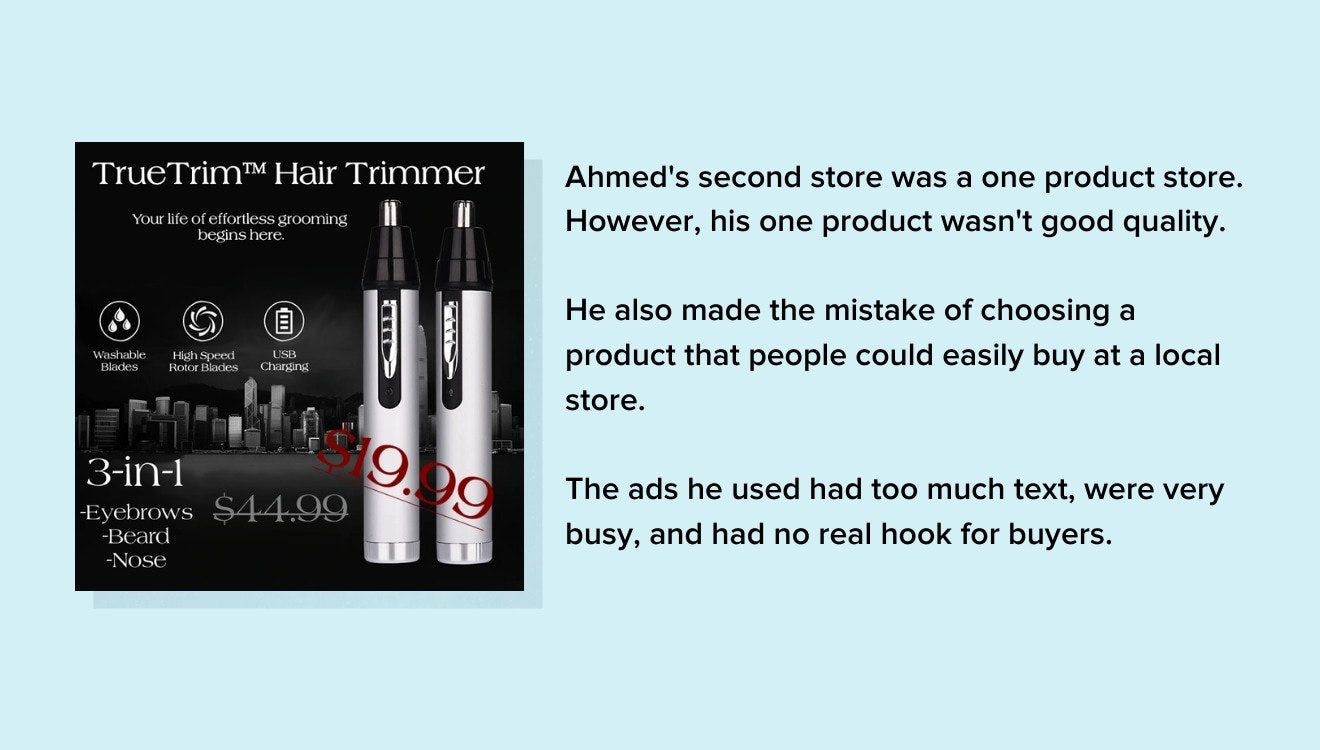 ahmed second store ads