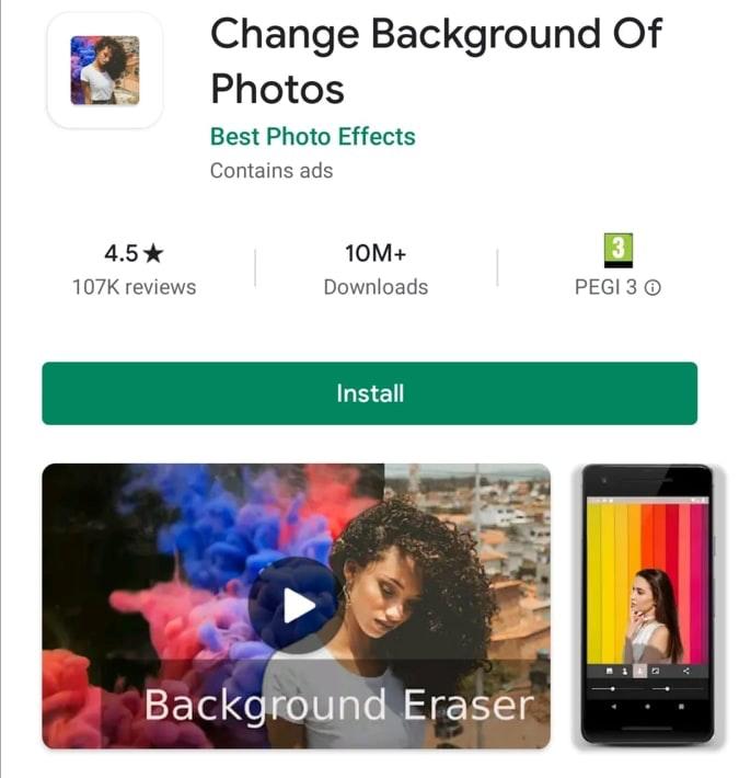 change background of photo