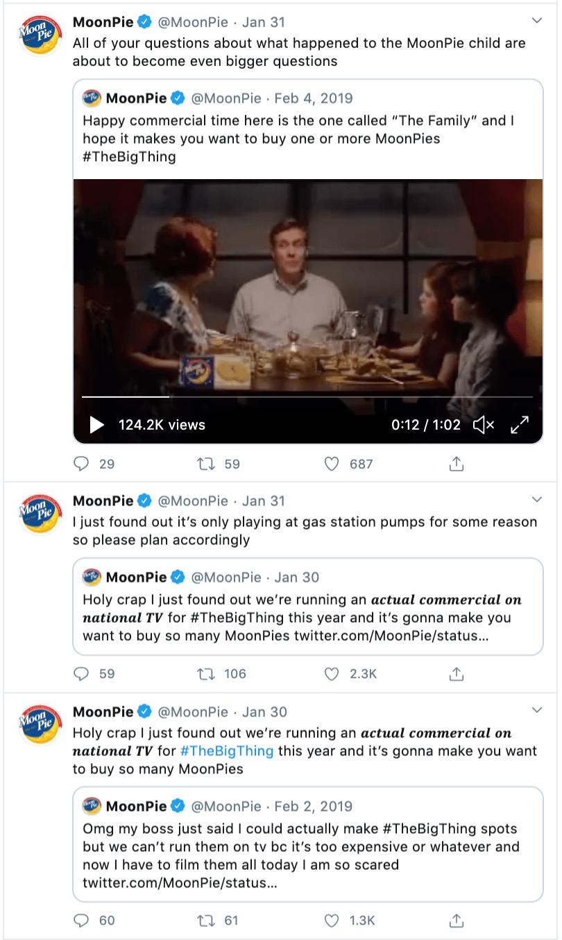MoonPie Tweets Social Media Campaign