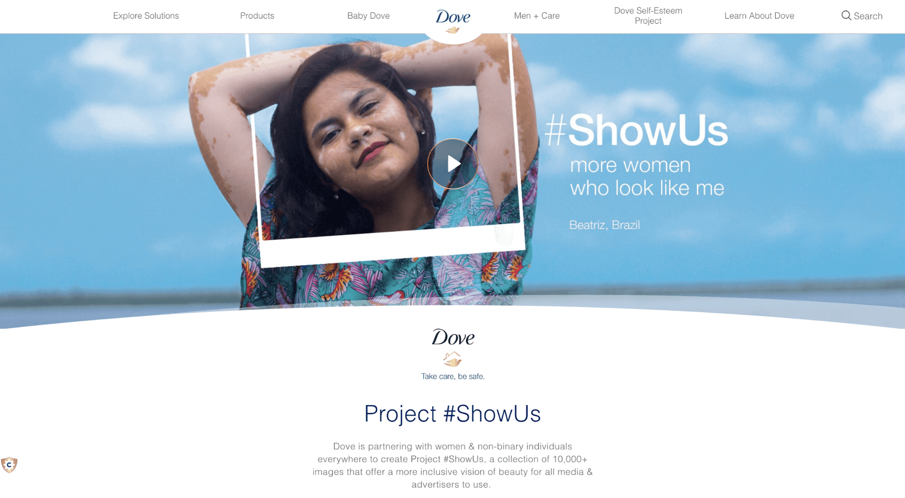 Dove #ShowUs Social Media Campaign