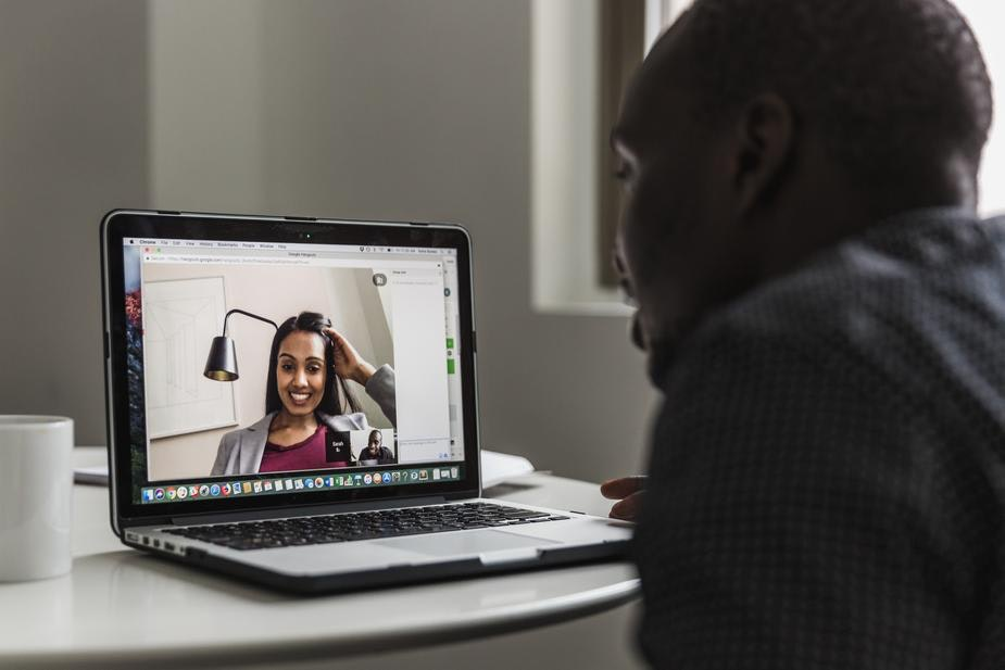 recruiting for remote jobs often happens over video chat