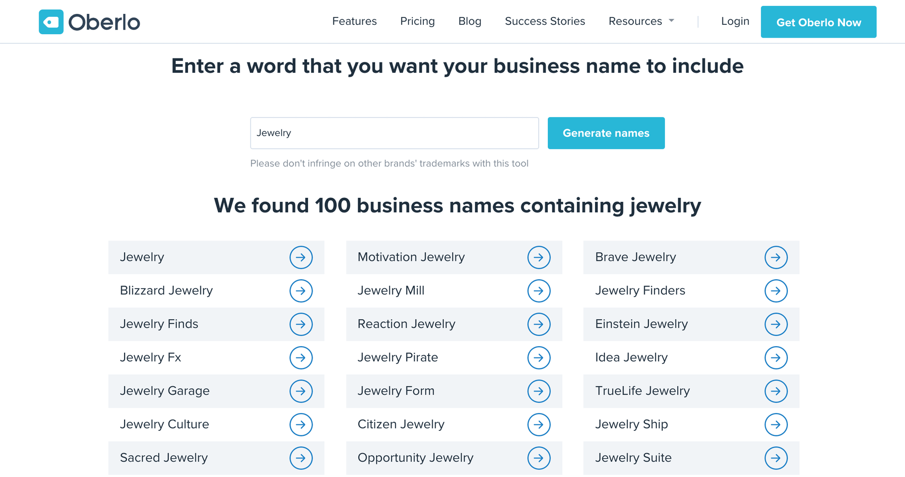 oberlo business name generator