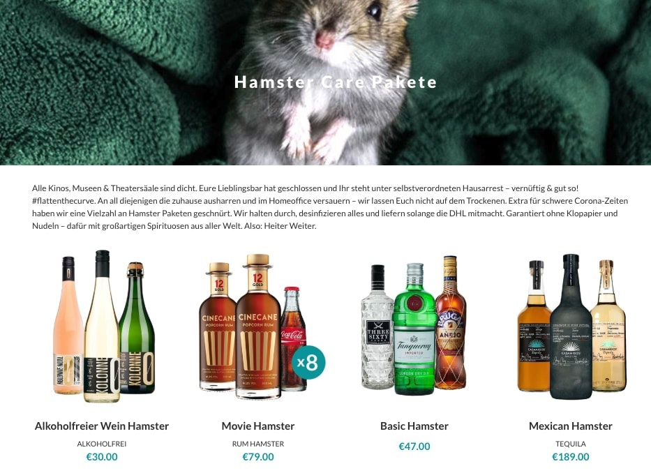 Tastillery Hamster Care Pakete page