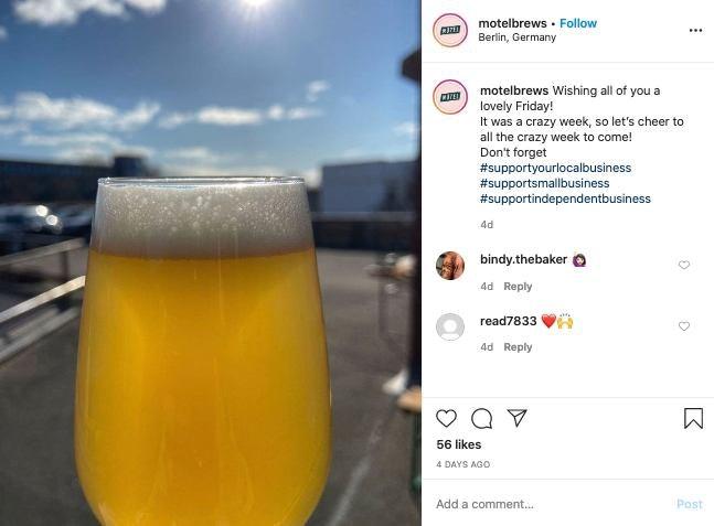 motel beers social media post