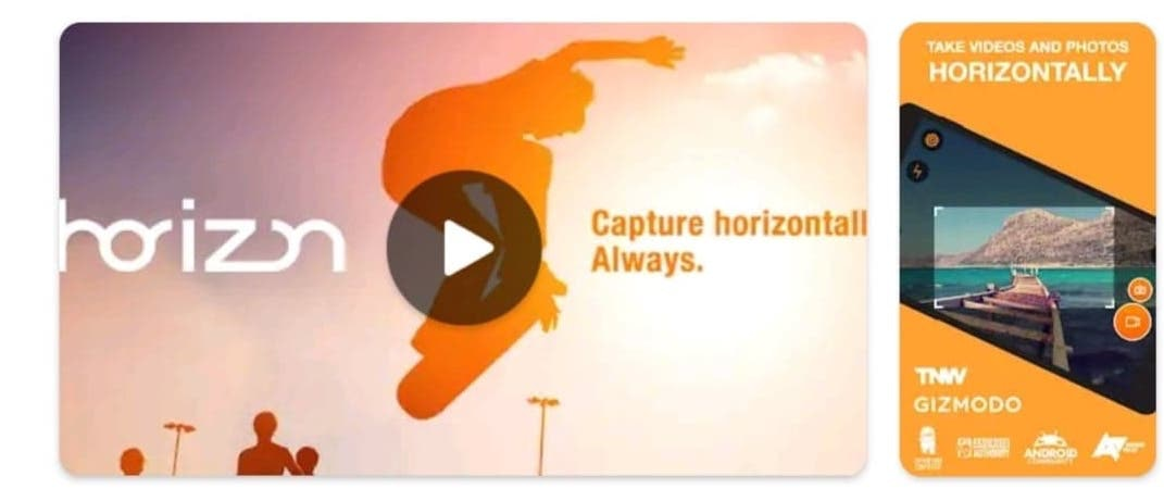 Horizon Camera - Horizontal Video Editor App