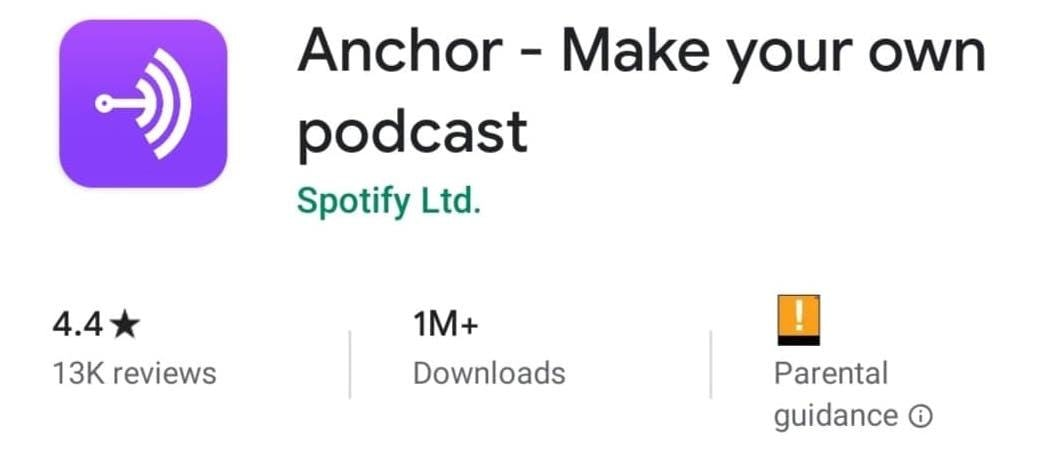 Anchor - Podcast and Video Creator App
