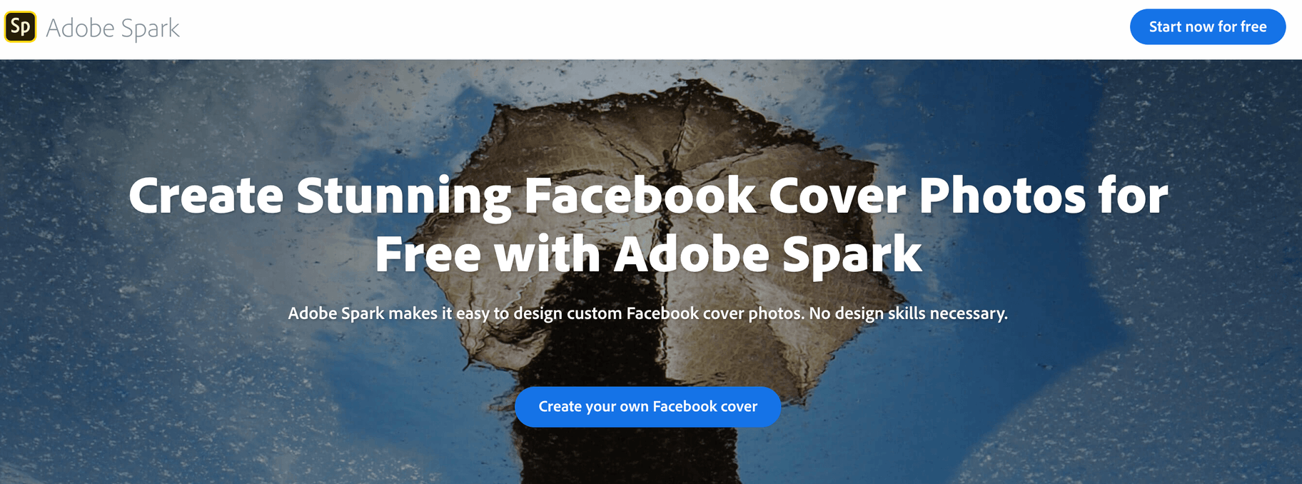 Adobe Spark Facebook Cover Photo Maker and Template