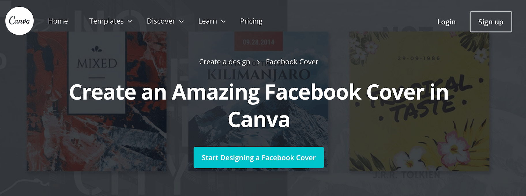 Canva Facebook Cover Photo Maker and Template