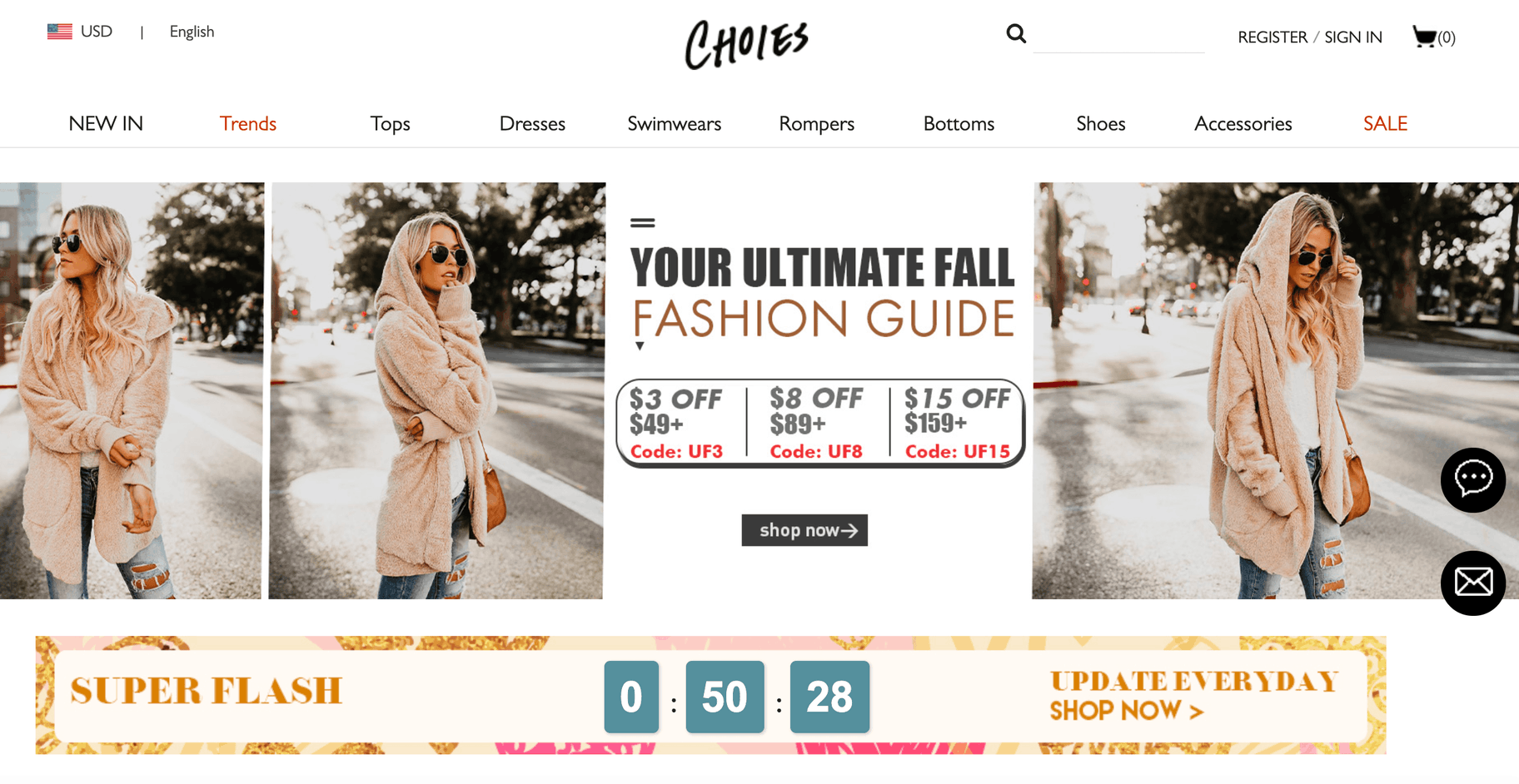 choies flash sale