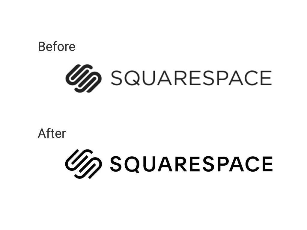Squarespace rebrand via Envato
