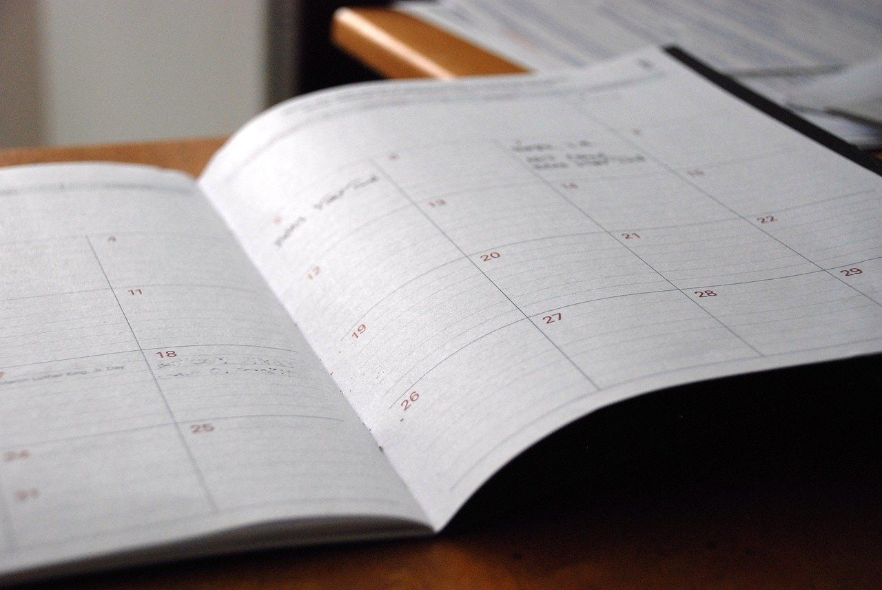 an open month planner