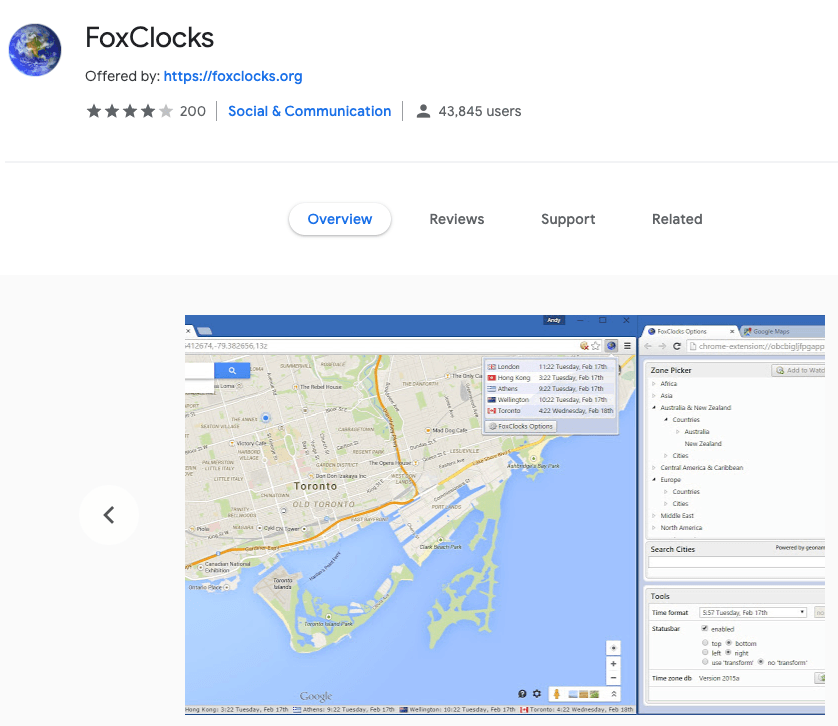 FoxClocks Chrome App