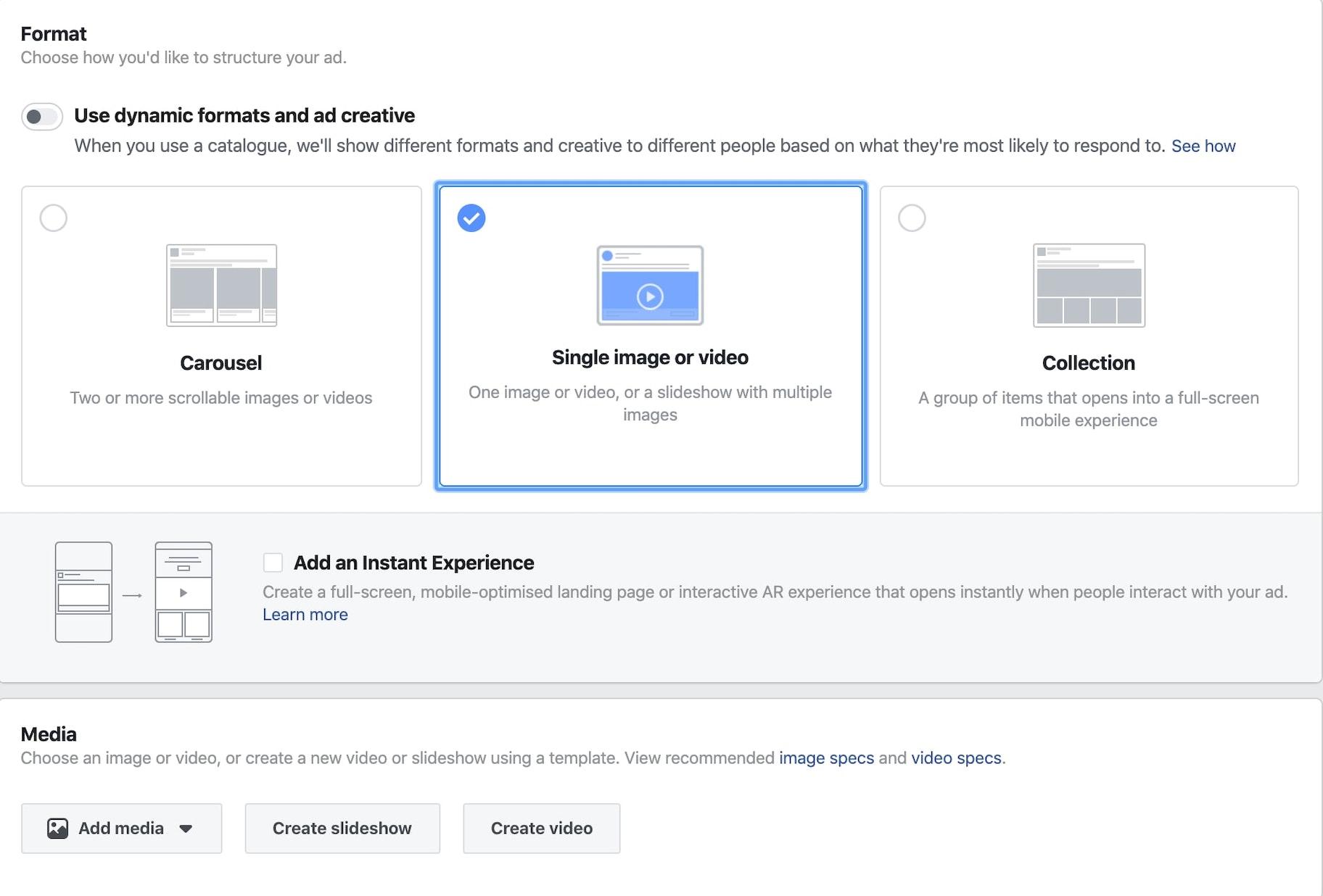 A screenshot from Facebook Ads Manager