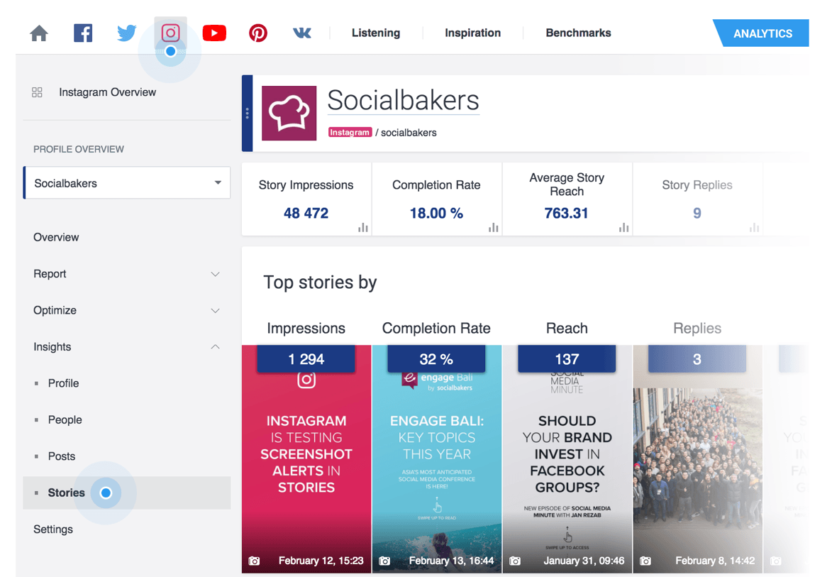 socialbakers free instagram analytics
