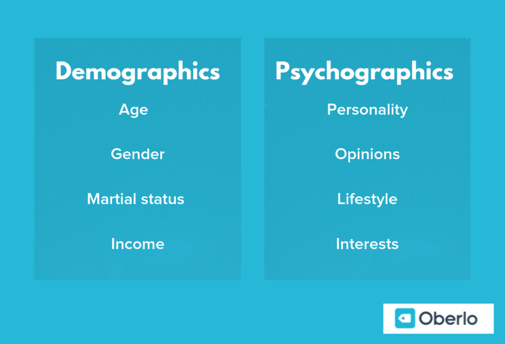 differences between demographics and psychographics