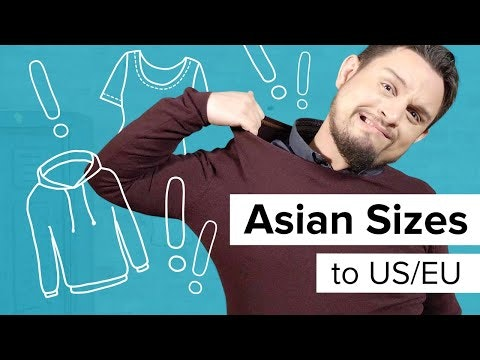 Convert Asian Sizes to US Sizes