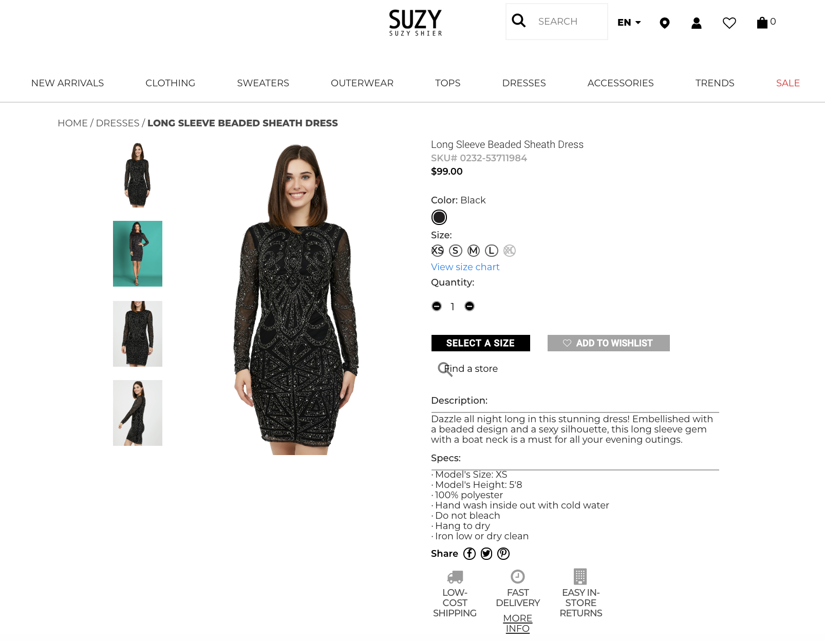 suzy shier product page