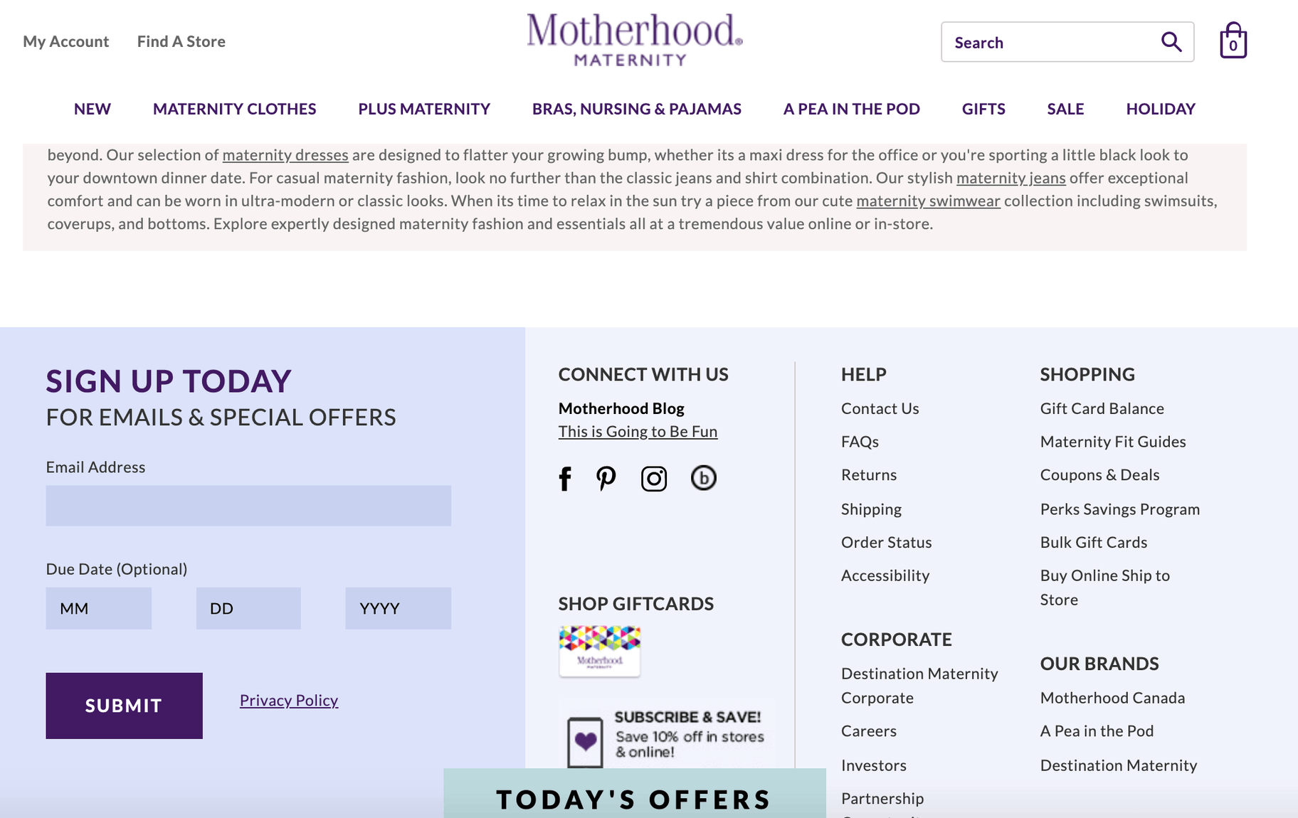 motherhood maternity email