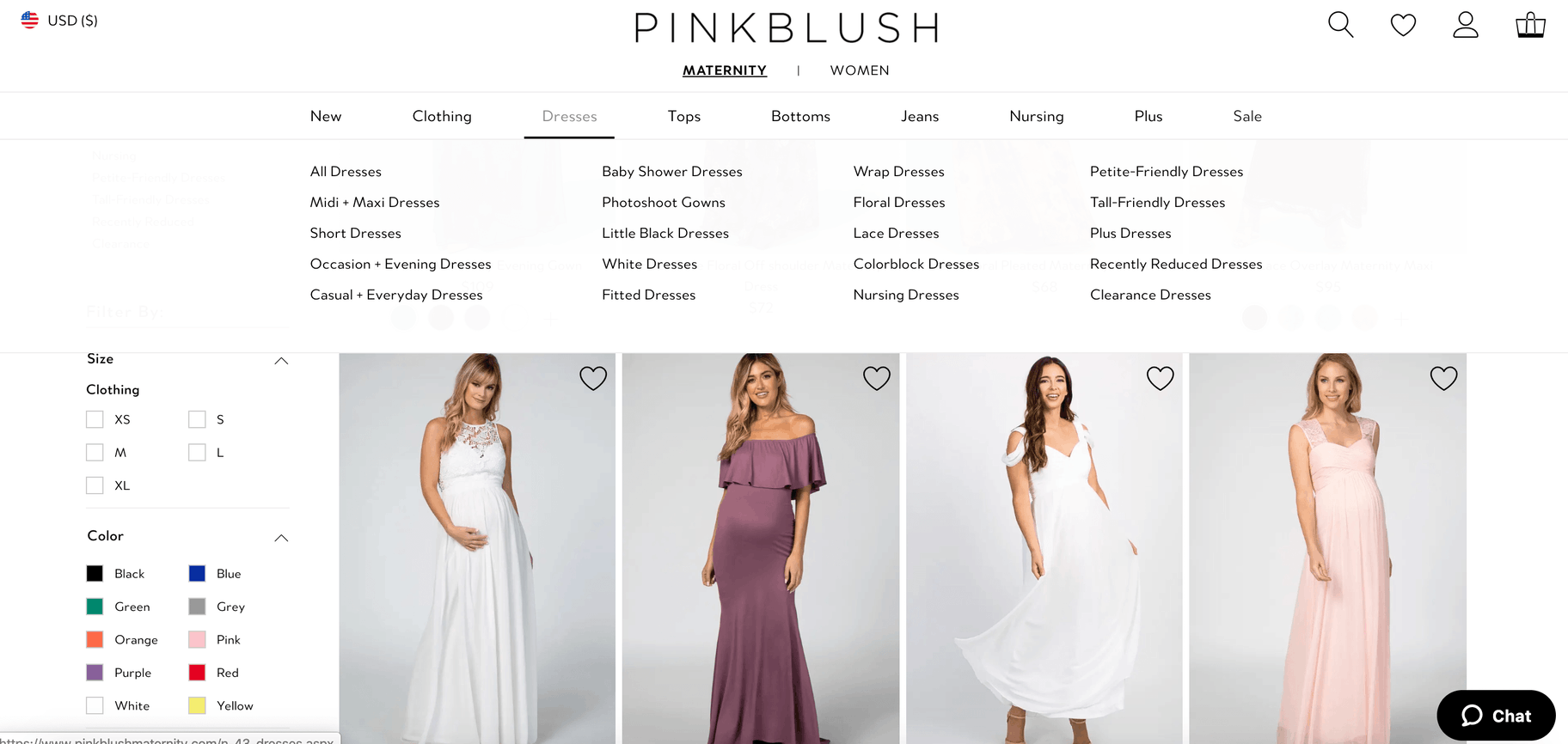pink blush collections