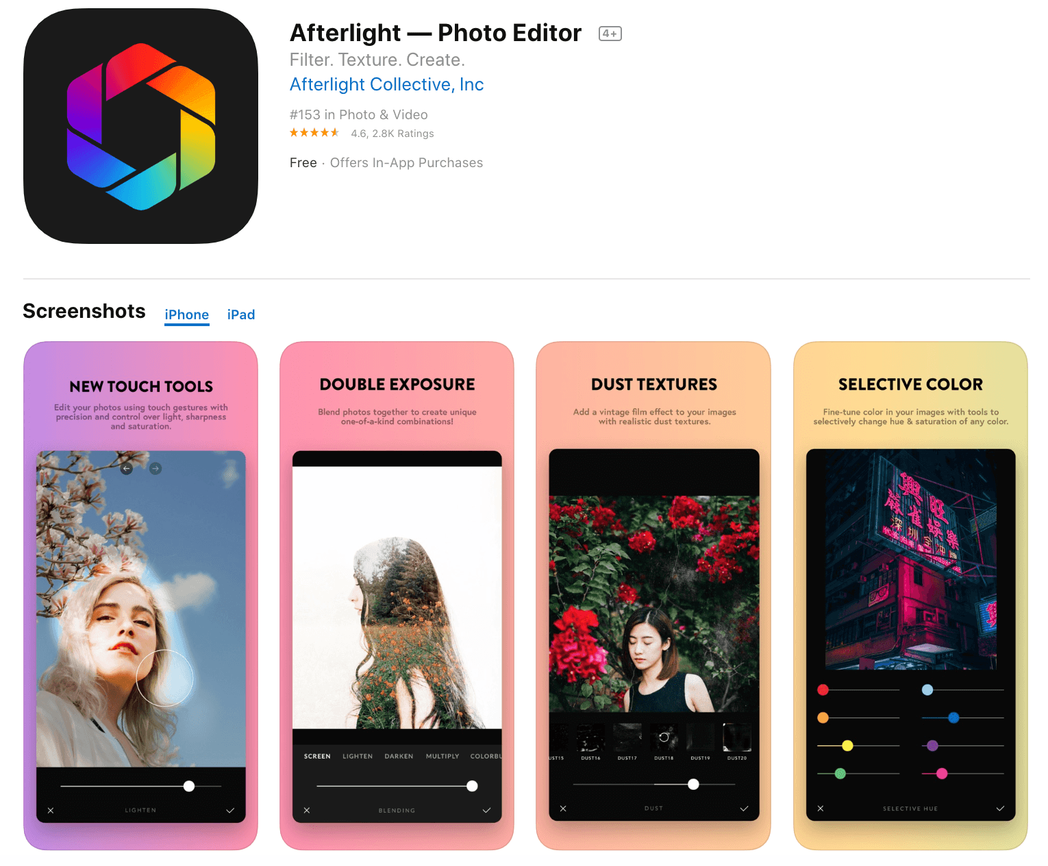 Afterlight Free Photo Editor